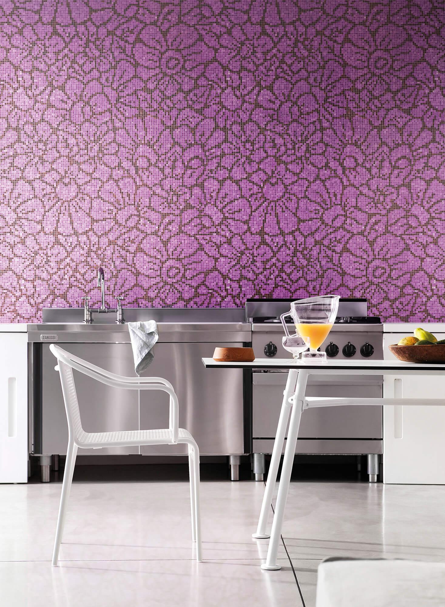Graphic Flowers Purple