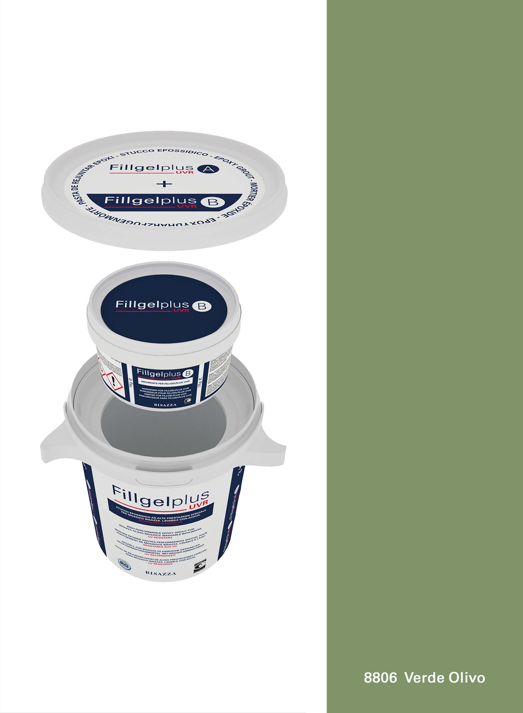 Fillgel Plus UVR - 8806 verde olivo