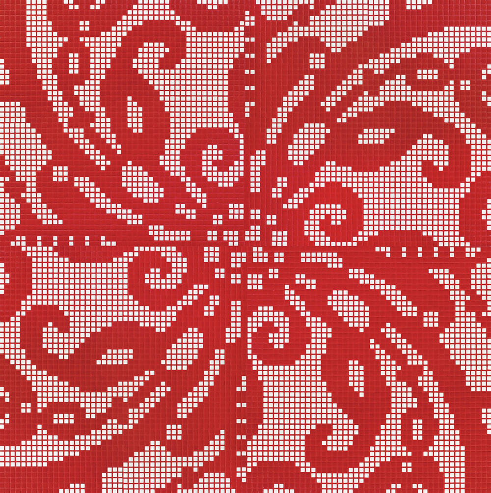 Embroidery Red