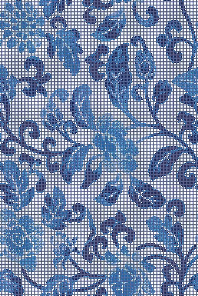 Summer Flowers Blue