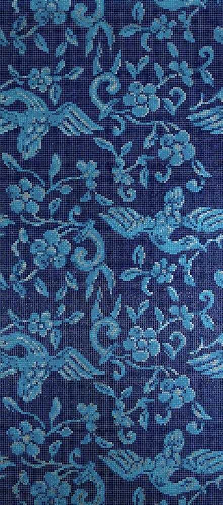 China Birds Blue