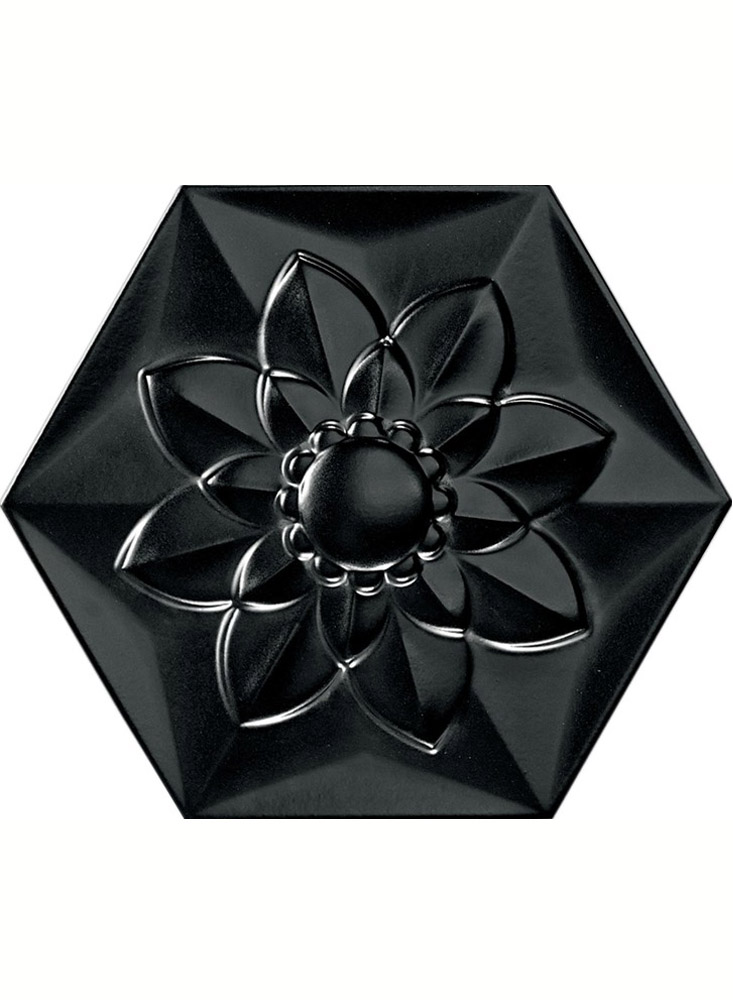 Black Frozen Flower