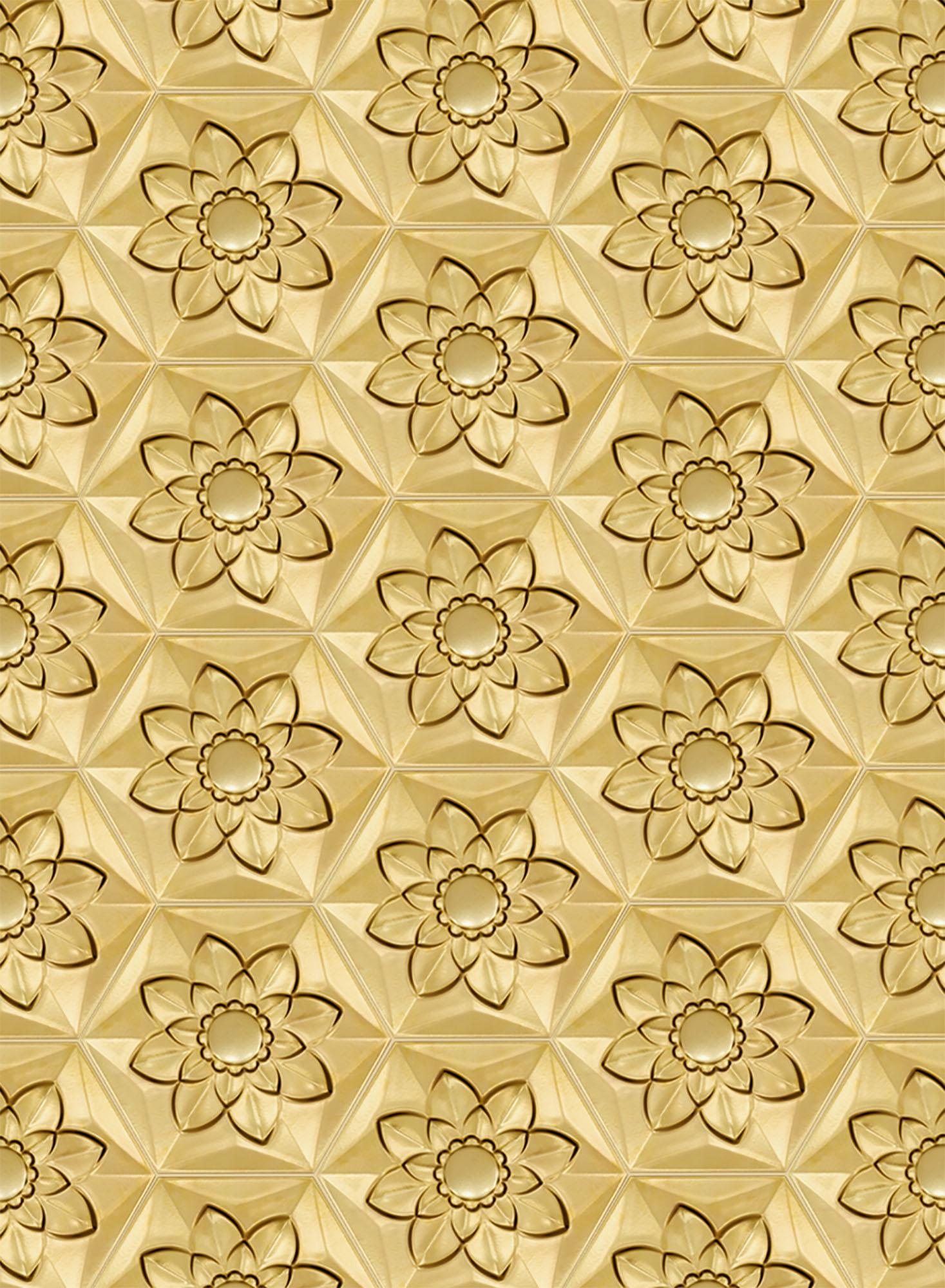 Gold Frozen Flower