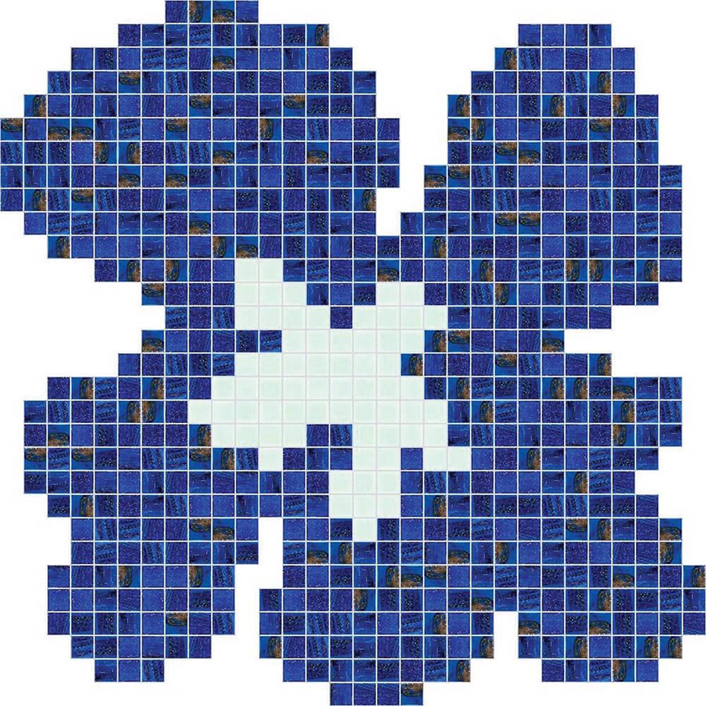 Fiore Blu Medio