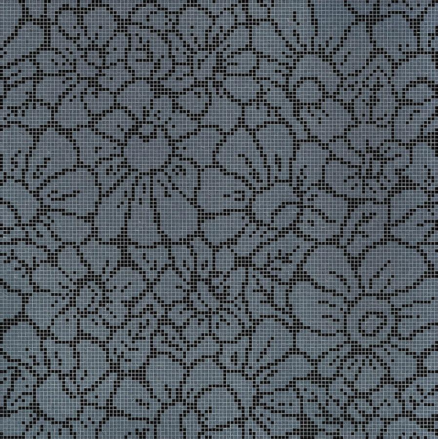 Graphic Flowers Black